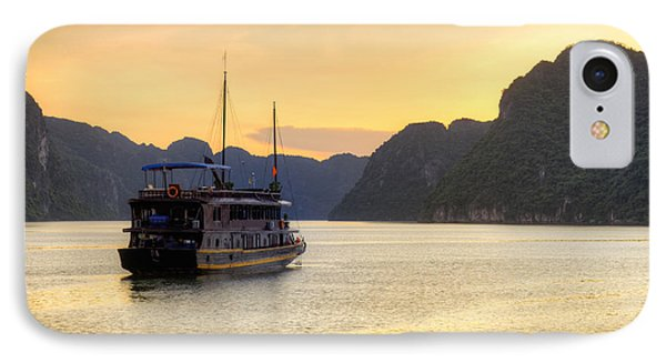 Vietnamese Junks On Halong Bay Vietnam Phone Case by Fototrav Print