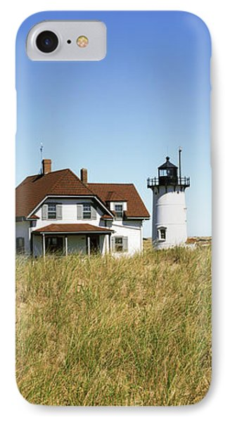 View Of A Lighthouse, Race Point Light IPhone Case by Panoramic Images
