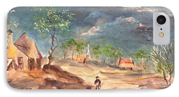View Of The Countryside IPhone Case by Egidio Graziani