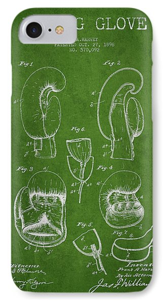 Vintage Boxing Glove Patent Drawing From 1896 IPhone Case by Aged Pixel