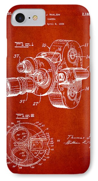 Vintage Camera Patent Drawing From 1938 IPhone Case