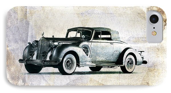Vintage Car IPhone Case by David Ridley