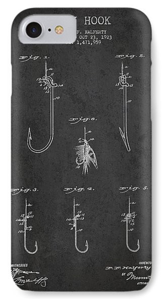 Vintage Fly Hook Patent Drawing From 1923 IPhone Case by Aged Pixel