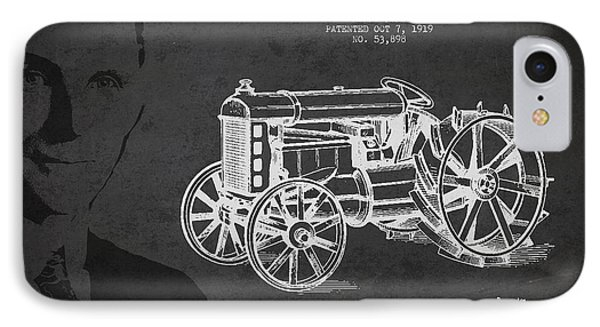 Vintage Ford Tractor Patent Drawing From 1919 IPhone Case by Aged Pixel