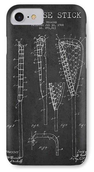 Vintage Lacrosse Stick Patent From 1908 IPhone Case