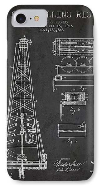 Vintage Oil Drilling Rig Patent From 1916 IPhone Case by Aged Pixel