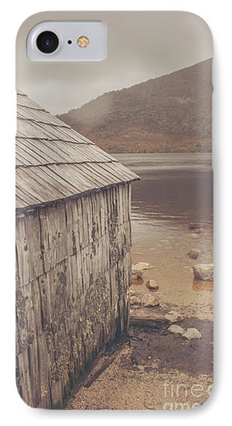 Vintage Photo Of An Australian Boat Shed IPhone Case by Jorgo Photography - Wall Art Gallery