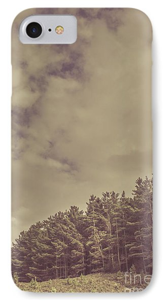 Vintage Pine Forest Landscape In Strahan Tasmania IPhone Case by Jorgo Photography - Wall Art Gallery