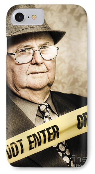 Vintage Portrait Of A Crime Detective IPhone Case