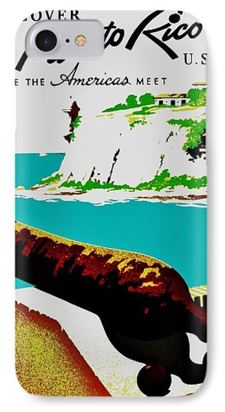 Vintage Poster - Puerto Rico Phone Case by Benjamin Yeager