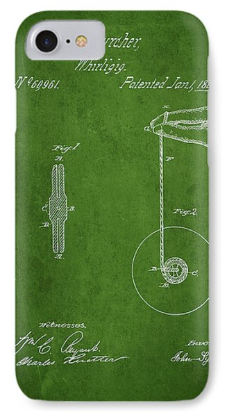 Vintage Yoyo Patent Drawing From 1867 Phone Case by Aged Pixel