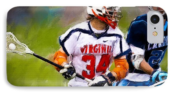 College Lacrosse 6 IPhone Case by Scott Melby