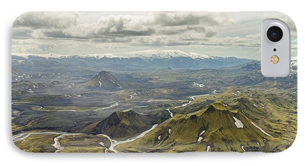 Volcano Valley In Iceland IPhone Case by For Ninety One Days