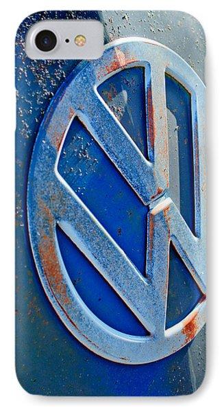 Volkswagen Vw Bus Front Emblem Phone Case by Jill Reger