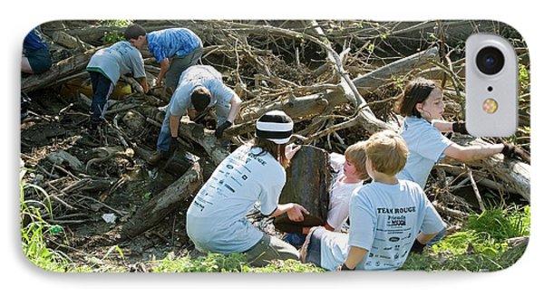 Volunteers Clearing Logs IPhone Case by Jim West
