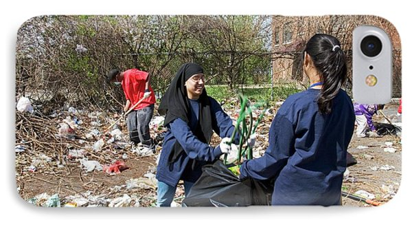 Volunteers Clearing Rubbish IPhone Case by Jim West