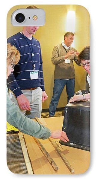 Volunteers Making Bat Houses IPhone Case by Jim West