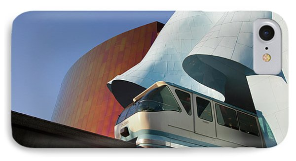 Wa, Seattle, Seattle Center, Monorail IPhone Case by Jamie and Judy Wild
