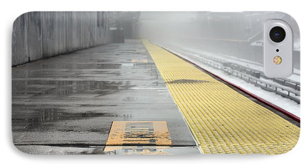 Waiting On A Train IPhone Case by JC Findley