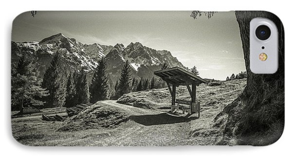 walking in the Alps - bw Phone Case by Hannes Cmarits