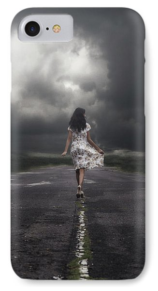 Walking On The Street IPhone Case