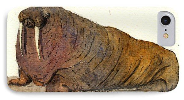 Walrus IPhone Case by Juan  Bosco