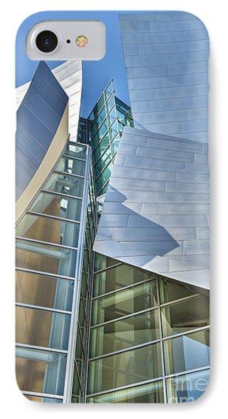 Walt Disney Concert Hall Vertical Los Angeles Ca Phone Case by David Zanzinger