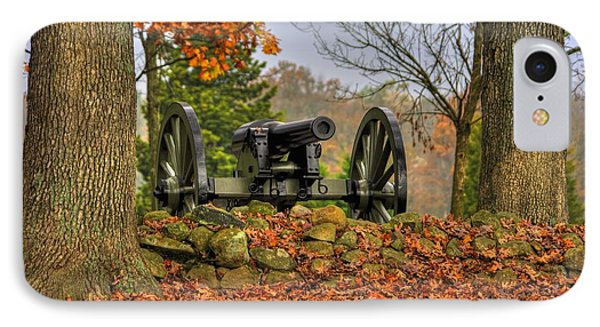 IPhone Case featuring the photograph War Thunder - The Charlotte North Carolina Artillery Grahams Battery West Confederate Ave Gettysburg by Michael Mazaika