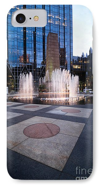 Water Fountain At Ppg Place Plaza Pittsburgh Phone Case by Amy Cicconi