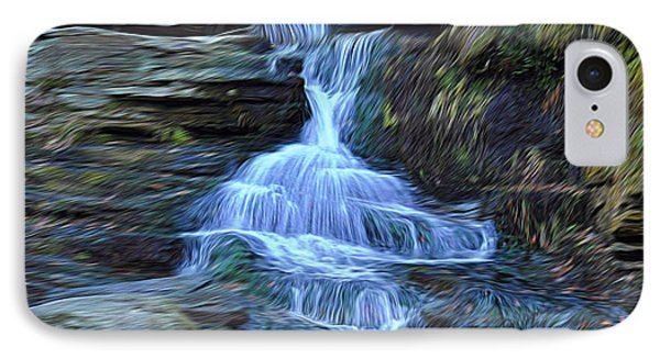 Water In Flow Motion IPhone Case by Douglas Miller