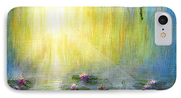 Water Lilies At Sunrise IPhone Case by Jerome Stumphauzer