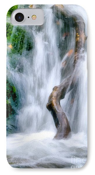Waterfall Painting IPhone Case by Odon Czintos