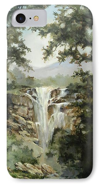 IPhone Case featuring the painting Waterfall by Tigran Ghulyan