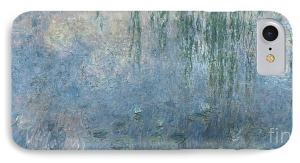 Waterlilies Morning With Weeping Willows IPhone Case
