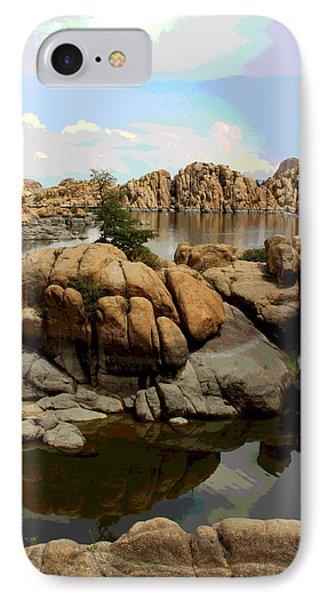 Watson Lake Reflections Phone Case by Greg Thiemeyer