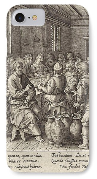 Wedding At Cana, Hieronymus Wierix IPhone Case