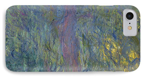 Weeping Willow IPhone Case by Claude Monet