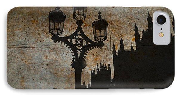 IPhone Case featuring the digital art Westminster Silhouette by Matt Malloy