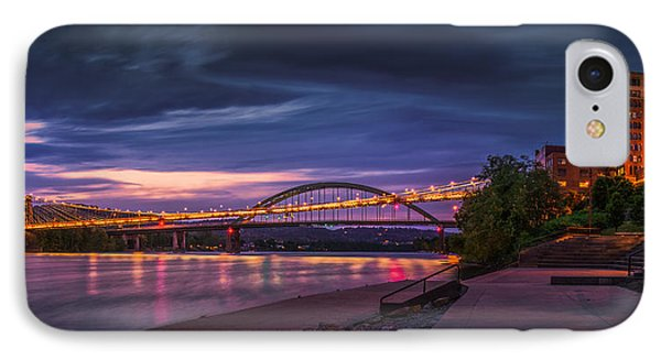 IPhone Case featuring the photograph Wheeling Suspension Bridge  by Mary Almond