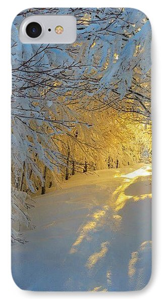 When Snow Falls Nature Listens IPhone Case