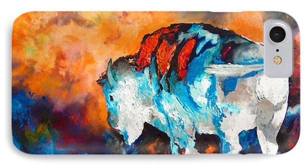White Buffalo Ghost IPhone Case