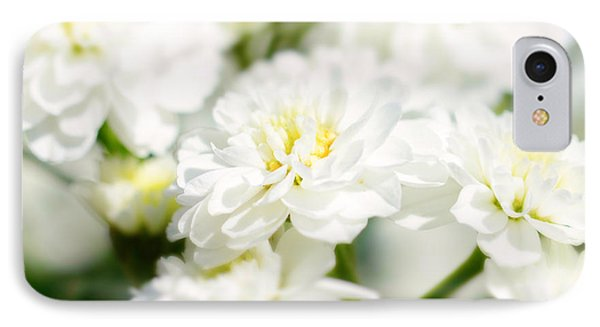 White Flower Macro IPhone Case by Tommytechno Sweden