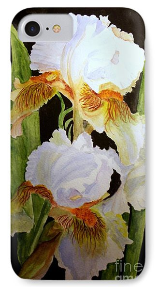 White Iris IPhone Case by Carol Grimes