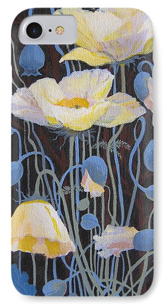 IPhone Case featuring the painting White Poppies by Marina Gnetetsky