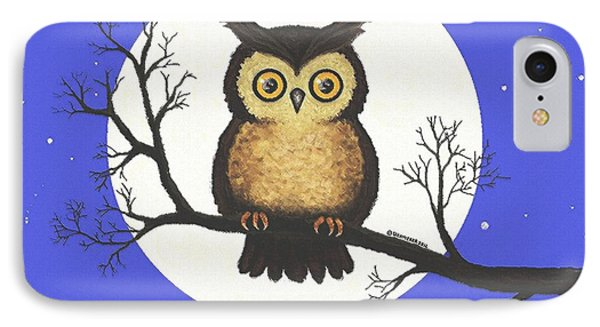 IPhone Case featuring the painting Whooo You Lookin' At by Sophia Schmierer