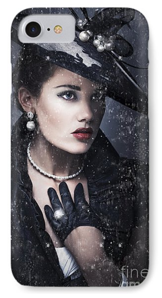 Widow At Funeral IPhone Case
