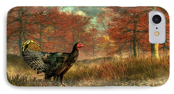 Wild Turkey IPhone Case by Daniel Eskridge