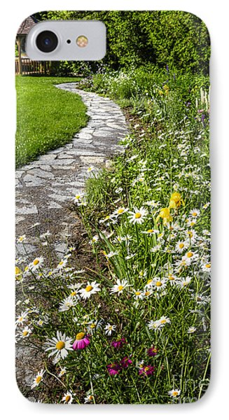 Wildflower Garden And Path To Gazebo Phone Case by Elena Elisseeva