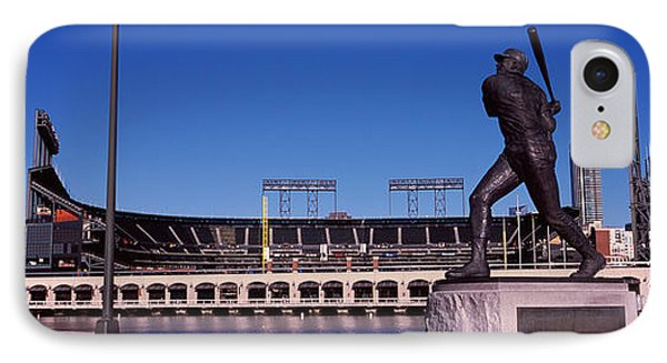 Willie Mays Statue In Front IPhone Case by Panoramic Images
