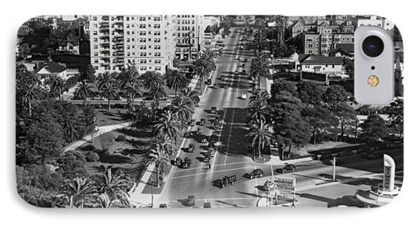 Wilshire Boulevard In La IPhone Case by Underwood Archives